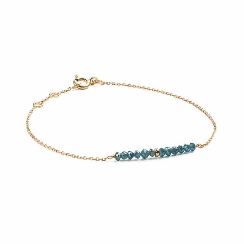 Bracelet rock diamants bleus
