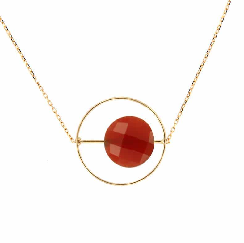 Collier Petit Regard interchangeable Onyx rouge