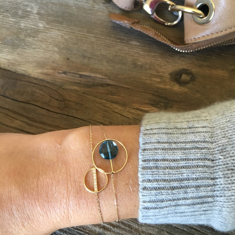 Bracelet Petit Regard Topaze Bleue