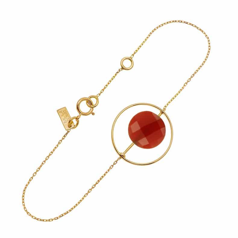 Bracelet Petit Regard interchangeable Onyx rouge
