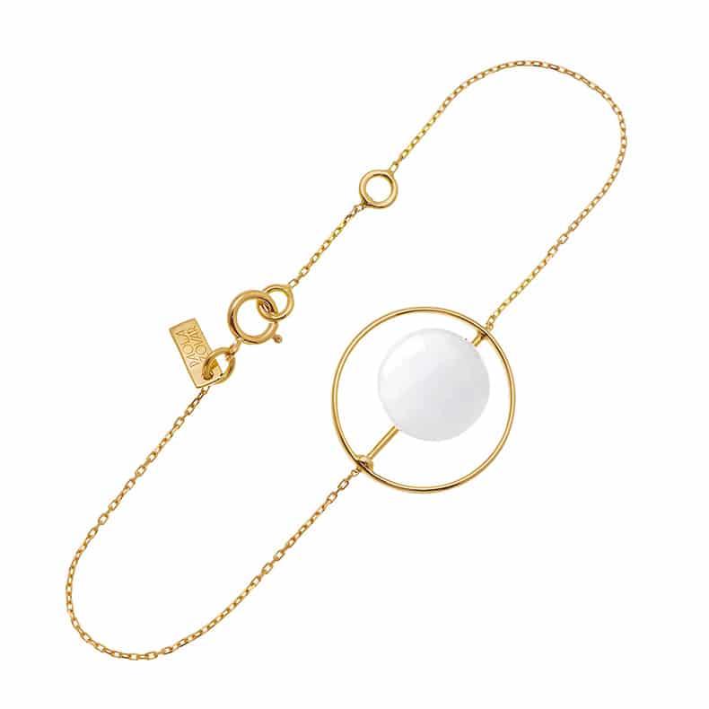Bracelet Petit Regard interchangeable Agate blanche