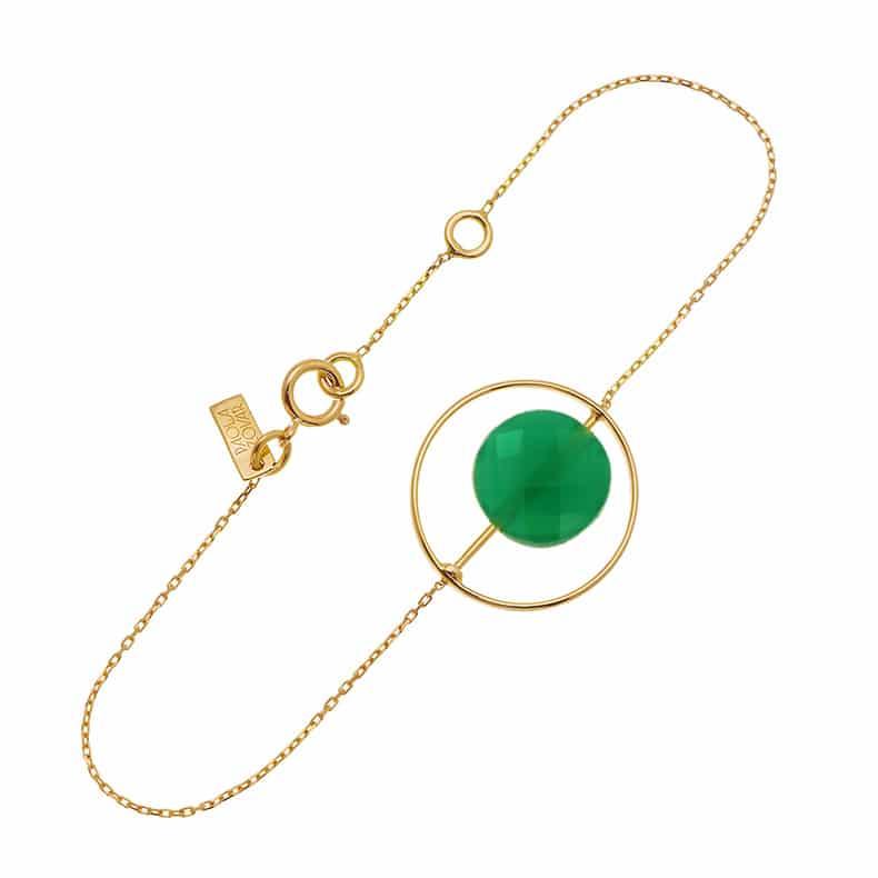 Bracelet Petit Regard interchangeable Onyx vert
