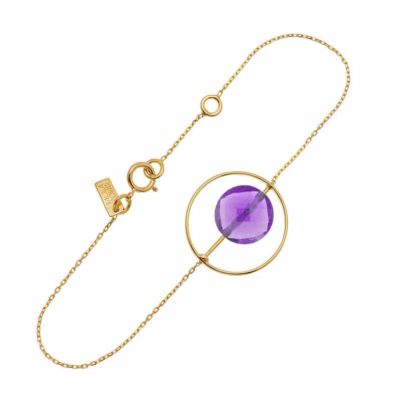 Bracelet Petit Regard interchangeable Améthyste