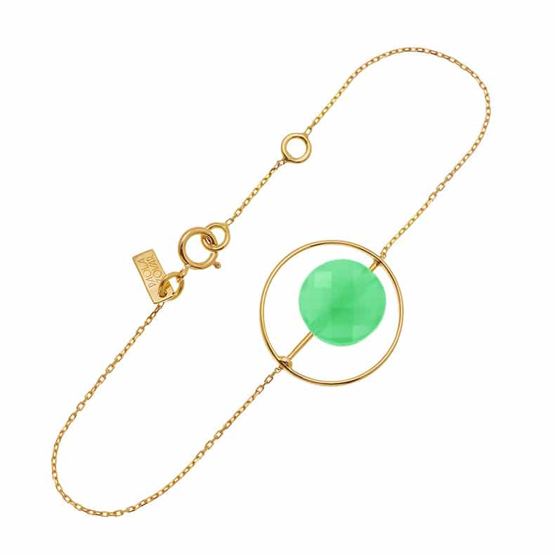 Bracelet Petit Regard interchangeable Chrysoprase