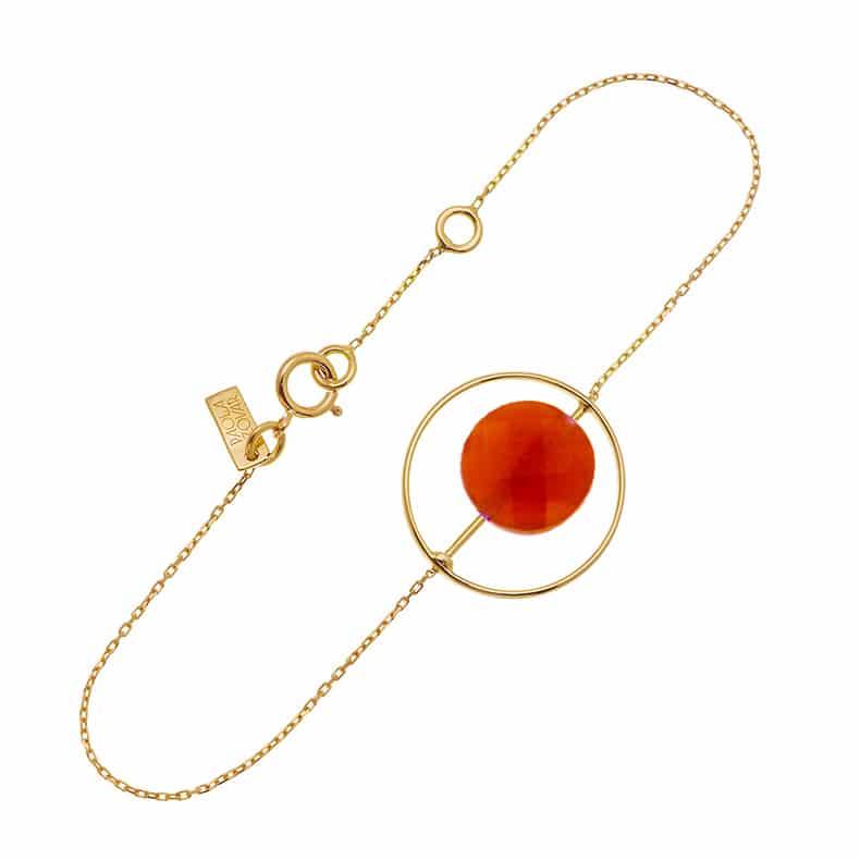 Bracelet Petit Regard interchangeable Cornaline