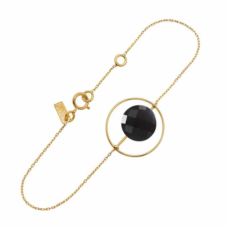 Bracelet Petit Regard interchangeable Onyx noir