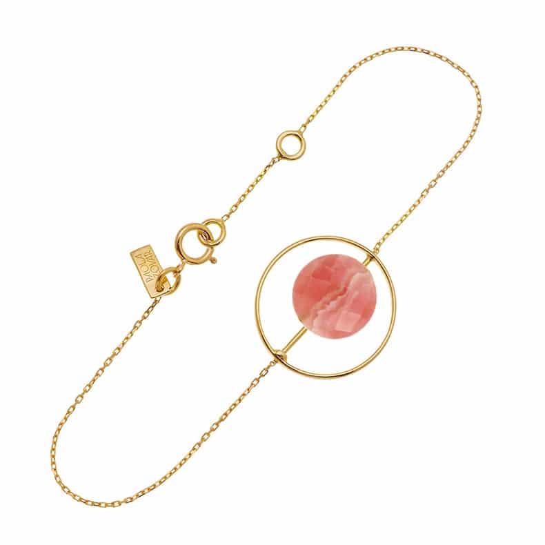 Bracelet Petit Regard interchangeable Rhodochrosite