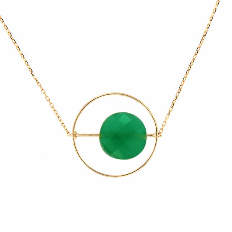 Collier Petit Regard interchangeable Onyx vert