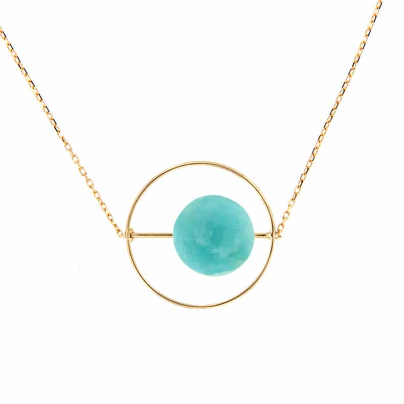 Collier Petit Regard interchangeable Amazonite