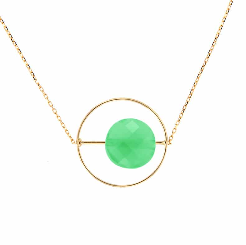 Collier Petit Regard interchangeable Chrysoprase