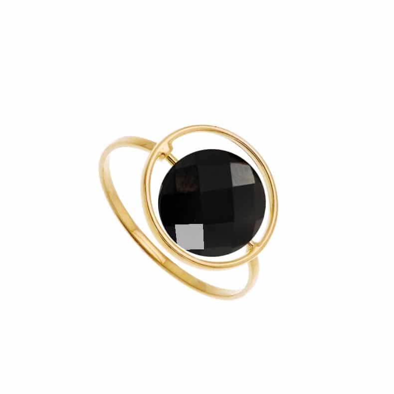 Bague Petit Regard interchangeable Onyx noir