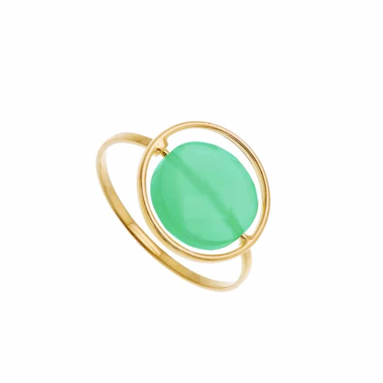 Bague Petit Regard interchangeable Chrysoprase
