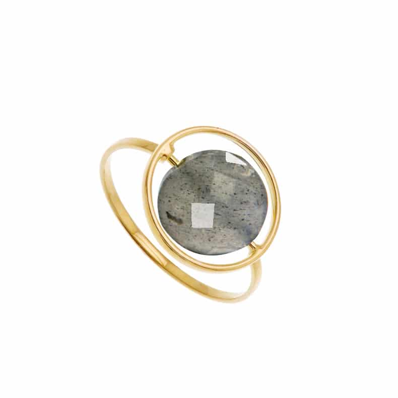 Bague Petit Regard Interchangeable Labrdorite