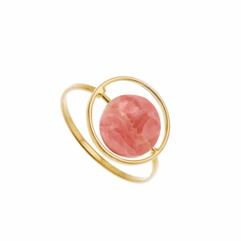 Bague Petit Regard interchangeable Rhodochrosite