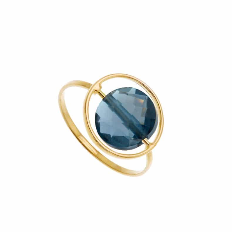 Bague Petit Regard interchangeable Topaze Blue London